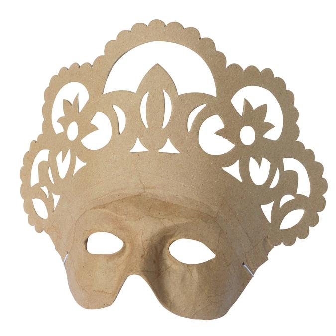 Masque de reine en papier mâché