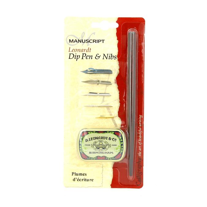 Kit de calligraphie porte-plume +5 plumes pour l'écriture
