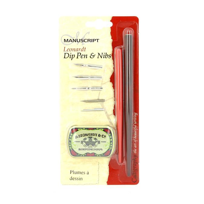 Kit de calligraphie porte-plume +5 plumes pour le dessin