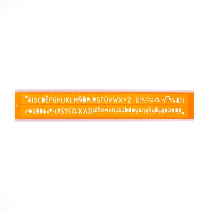 Normographe iso alphabet hauteur de lettre 10mm