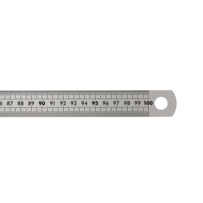 Réglet en inox gradué 100cm flexible