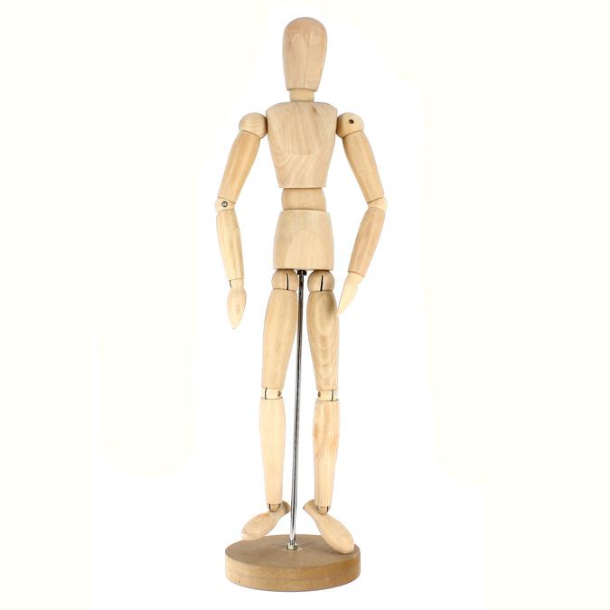 Mannequin en bois homme 50cm