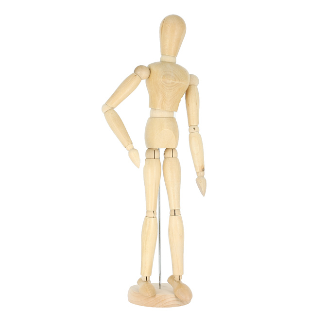 Mannequin en bois femme 40cm