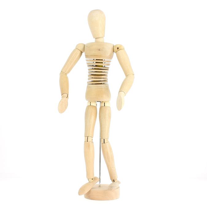 Mannequin en bois homme 30cm