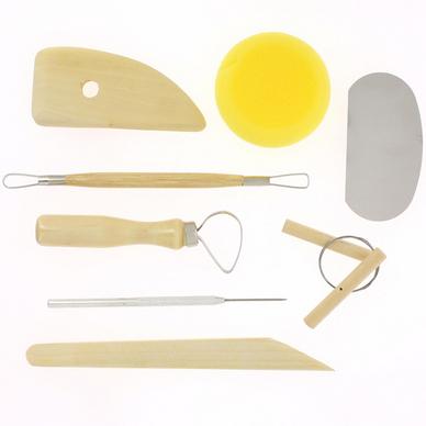 Assortiment de 8 outils pour potier