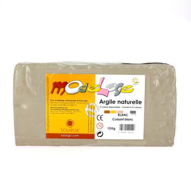 Argile à cuire lisse 10kg