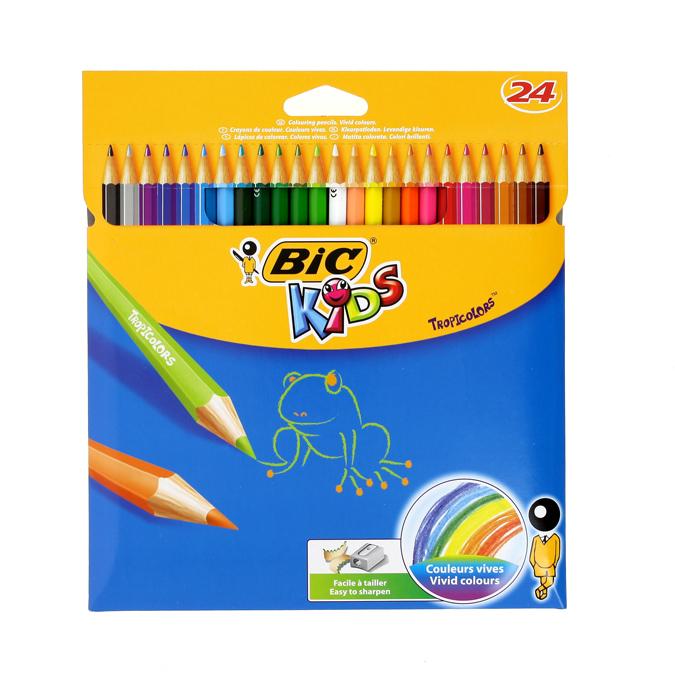 Crayon de couleur Tropicolor boîte de 24