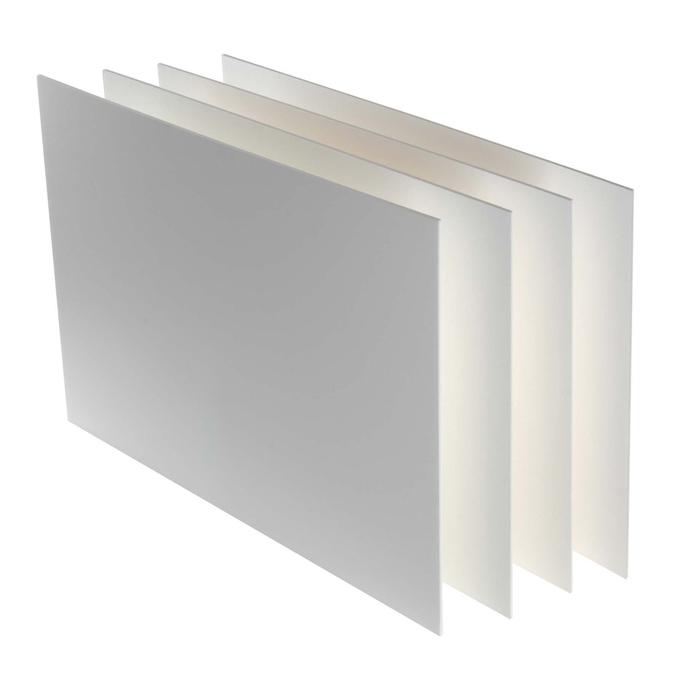 Carton plume 3mm classique lot de 4 50 x 65 cm