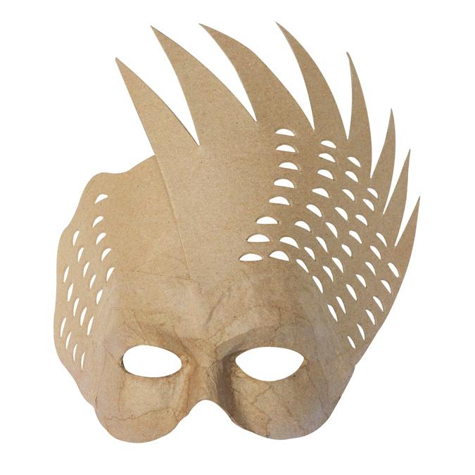 Masque oiseau en papier mâché