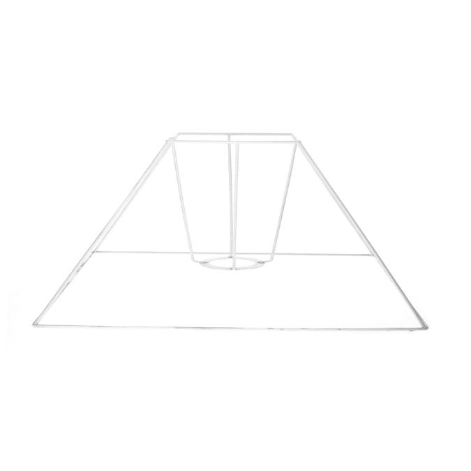 Carcasse d'abat-jour carré bas 20 x 6 x 14 cm
