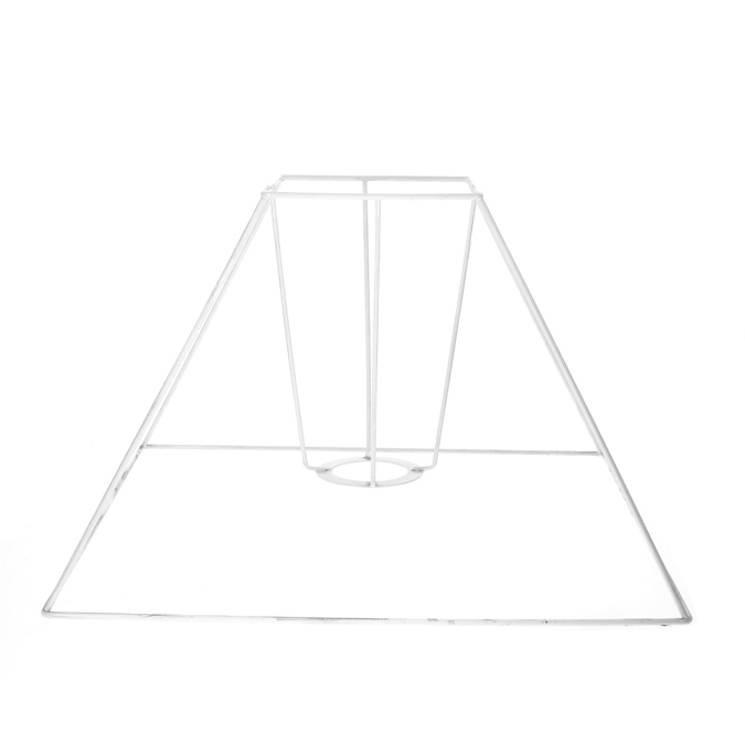 Carcasse d'abat-jour pyramide 30 x 11 x 23 cm