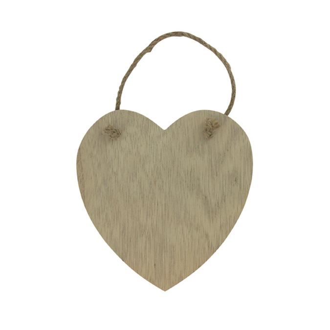 Plaque à suspendre motif cœur