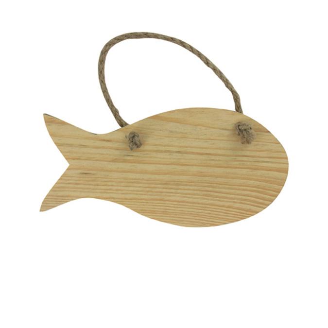 Plaque à suspendre motif poisson
