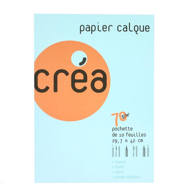Papier calque 70 g A3 - pochette de 10 feuilles