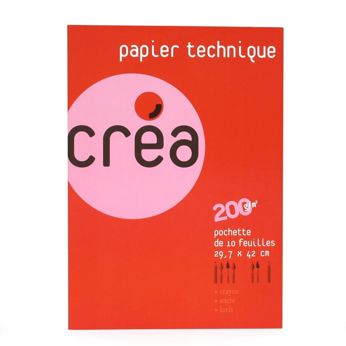 Papier lavis technique 200 g A3 - pochette de 10 feuilles