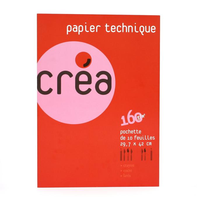 Papier lavis technique 160 g A3 - pochette de 10 feuilles