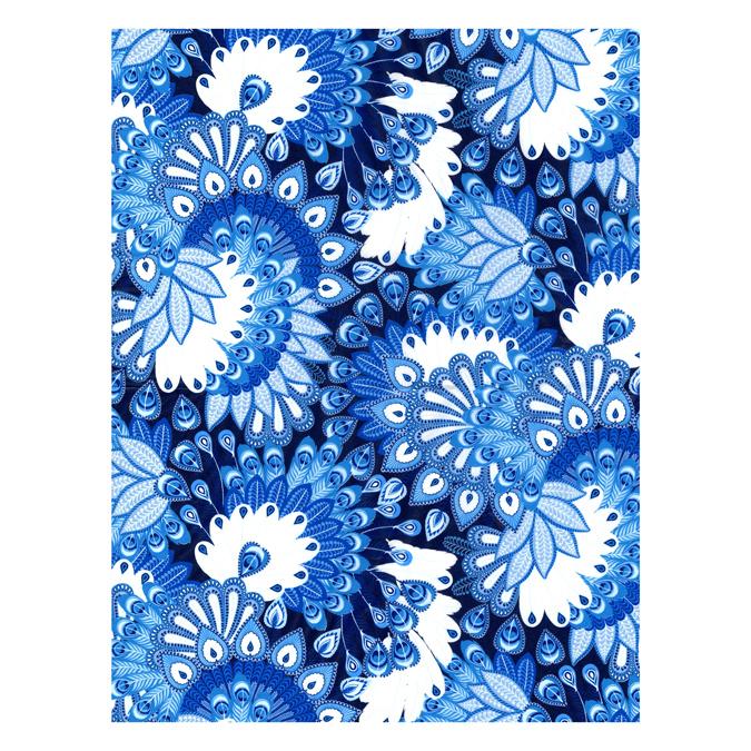 Papier Décopatch 30 x 40cm 000 pétales bleues