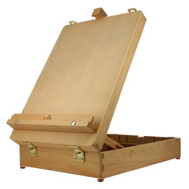 Bo te chevalet de table en h tre cr a chez rougier pl - Chevalet de table peinture ...