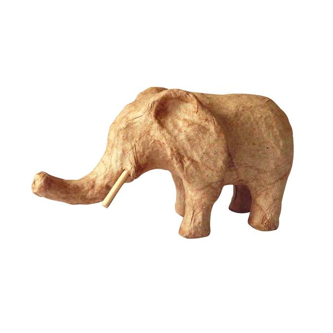 Objet en papier mâché clair éléphant