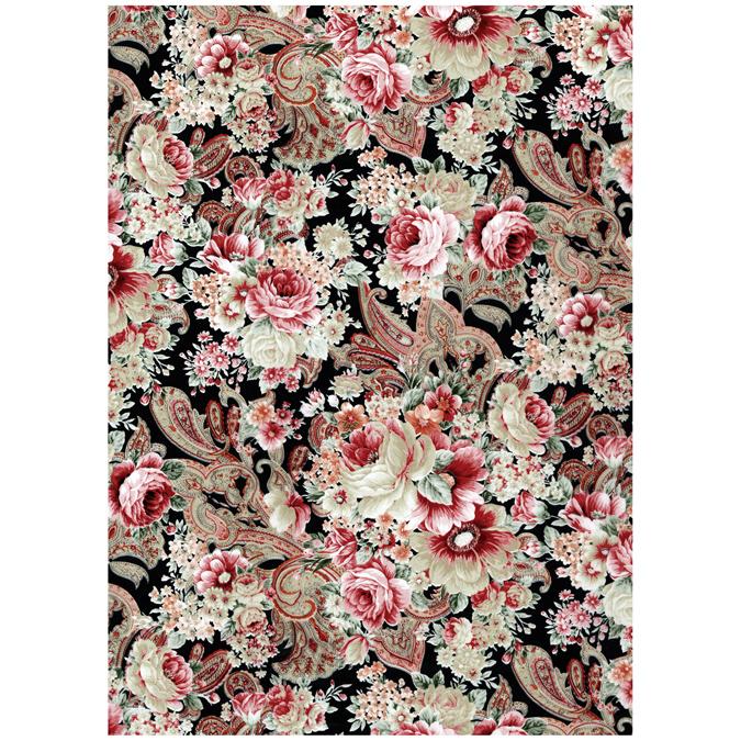 Papier Décopatch 30 x 40cm 590 tapisserie florale