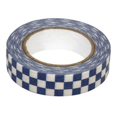 un ruban masking tape motifs échiquier