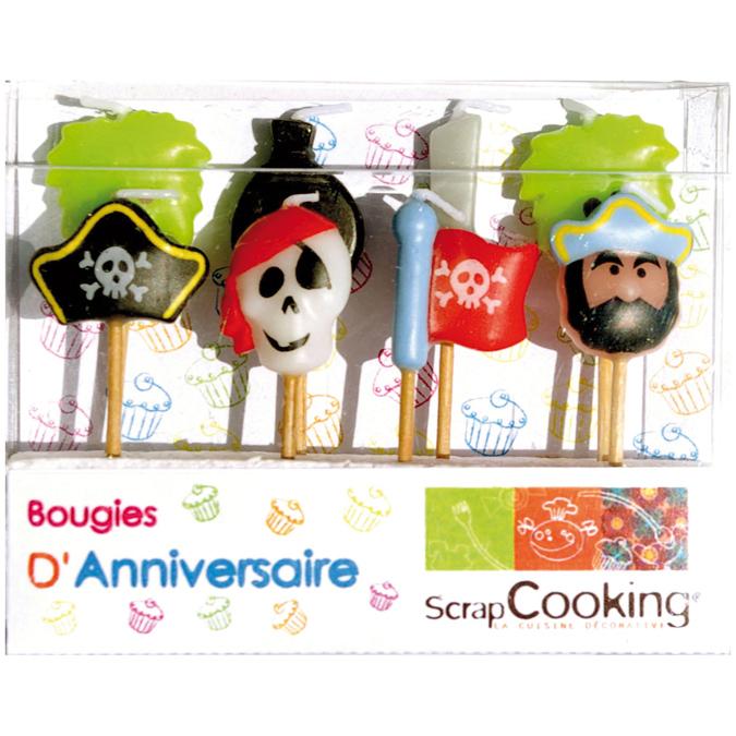 Bougies set de 8 motif pirates
