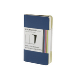 Lot de 2 carnets de notes Moleskine Volant 6.5 x 10.5 bleu
