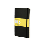 Carnet de notes Moleskine souple quadrillé 13 X 21 noir