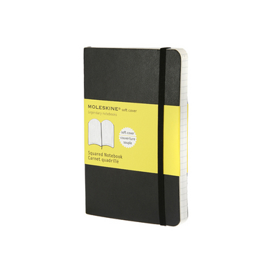Carnet de notes Moleskine souple quadrillé 9 X 14 noir
