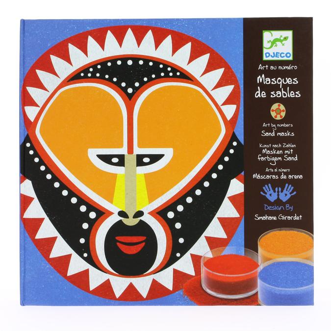 Tableau en sable Masques arts premiers