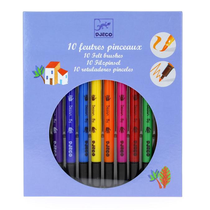Feutre-pinceau boîte de 10 couleurs classiques