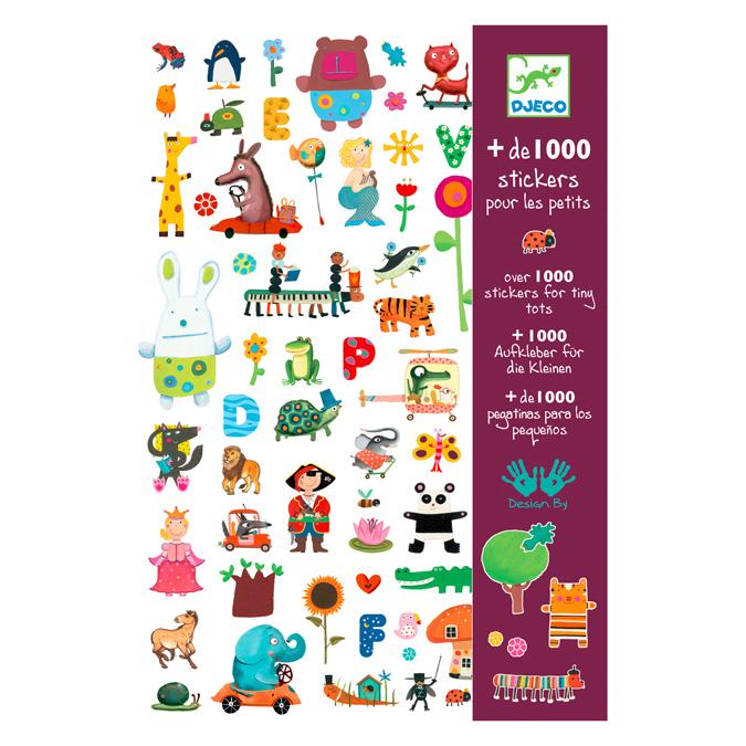 Planche d'autocollants pour les petits - Plus de 1000 stickers personnages, lettres et végétaux