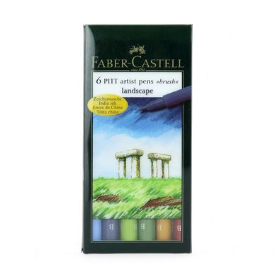Feutre-pinceau Pitt set de 6 couleurs paysage