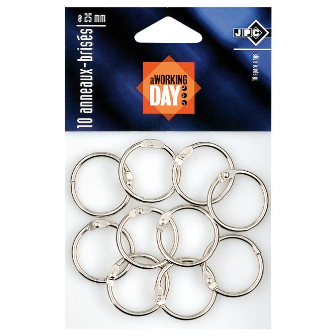 Sachet de 10 anneaux brisés Ø25mm