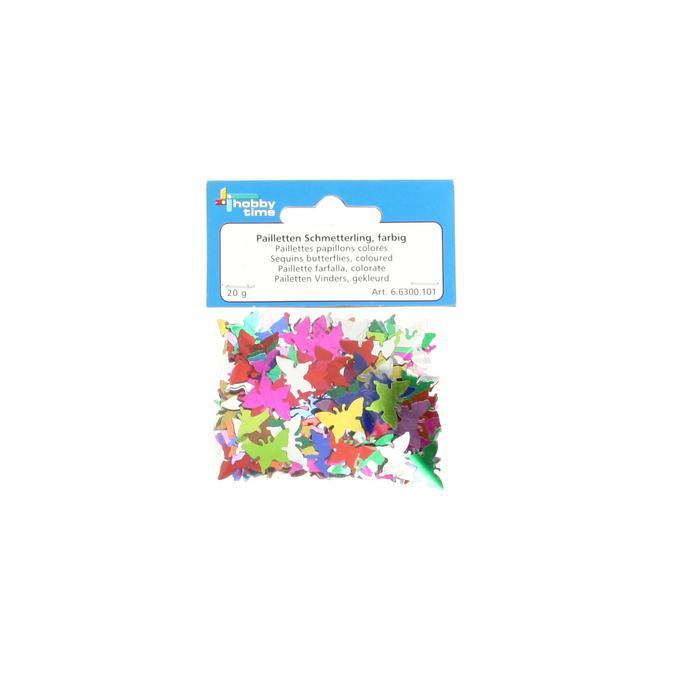 Paillettes papillons multicolores sachet de 20g