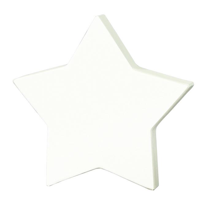 Objet en papier mâché 12cm étoile pleine