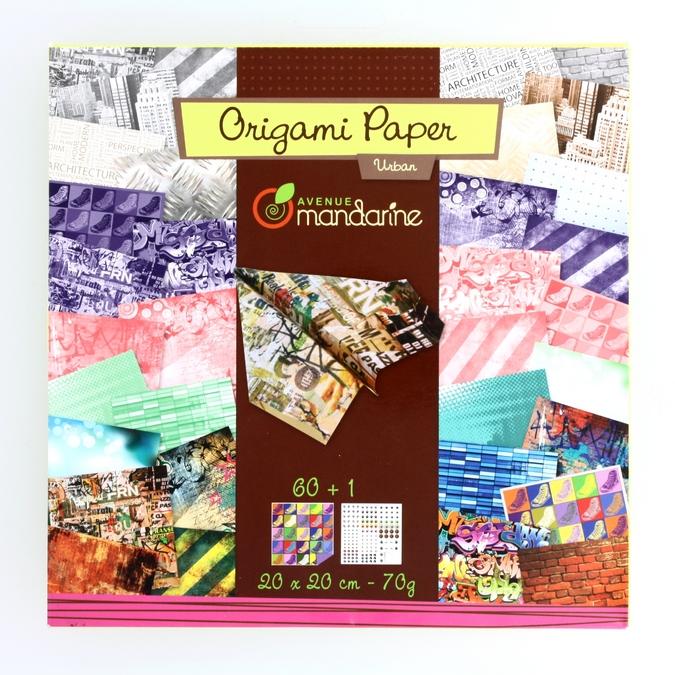Papier origami Urban 20x20cm 60 feuilles