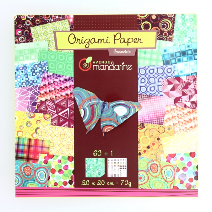 Papier origami Geometric 20x20cm 60 feuilles