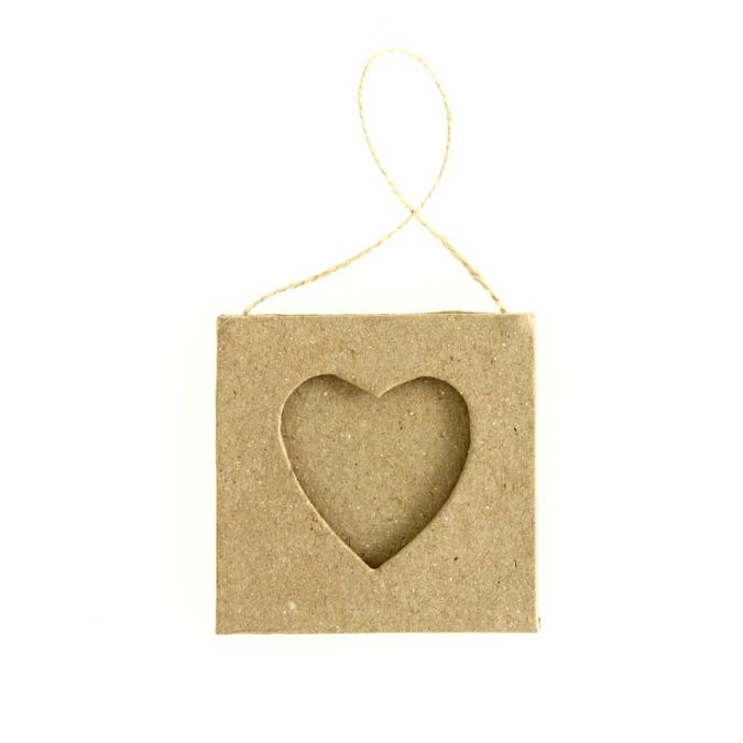 Cadre en papier mâché cœur Ø55cm