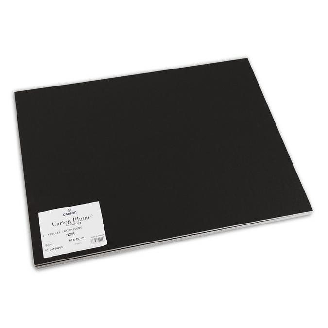 Carton plume 5mm noir 50 x 65 cm lot de 4