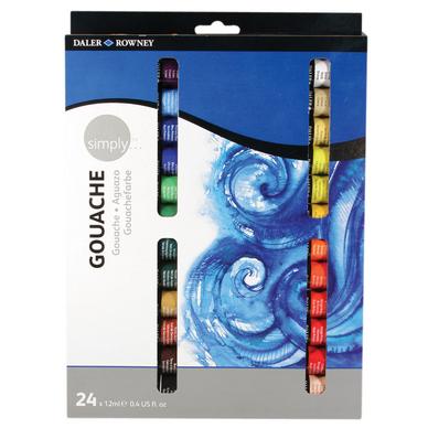 Set de 24 tubes de peinture gouache Simply 12ml