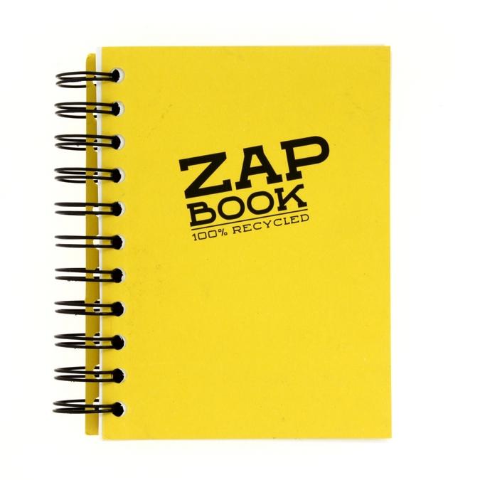 Bloc papier Zap Book spiralé grand côté 160 feuilles 80g/m² 11 x 15cm