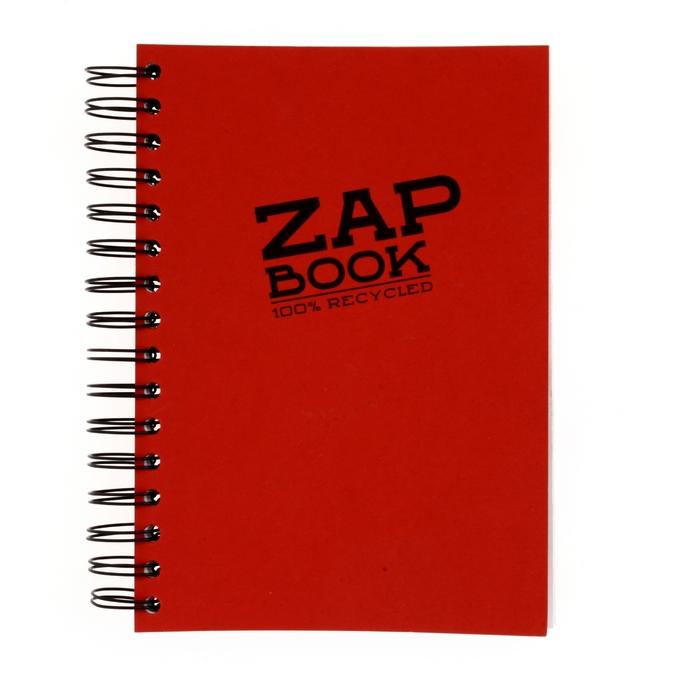 Bloc papier Zap Book spiralé grand côté 160 feuilles 80g/m² A5