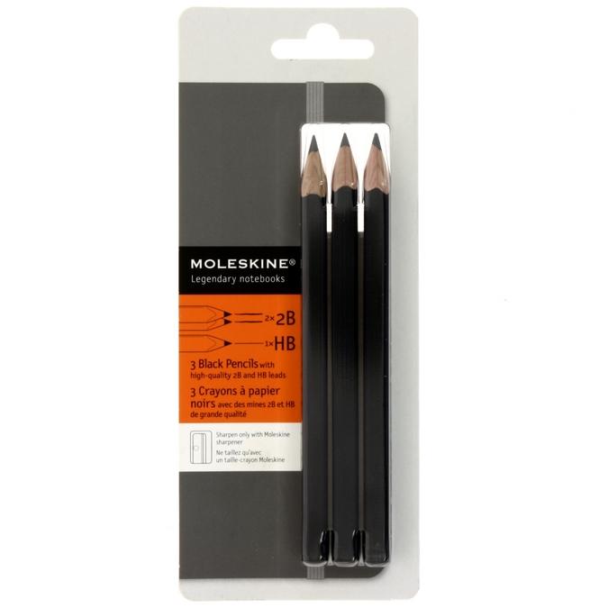 Lot de 3 Crayons à papier Moleskine noir