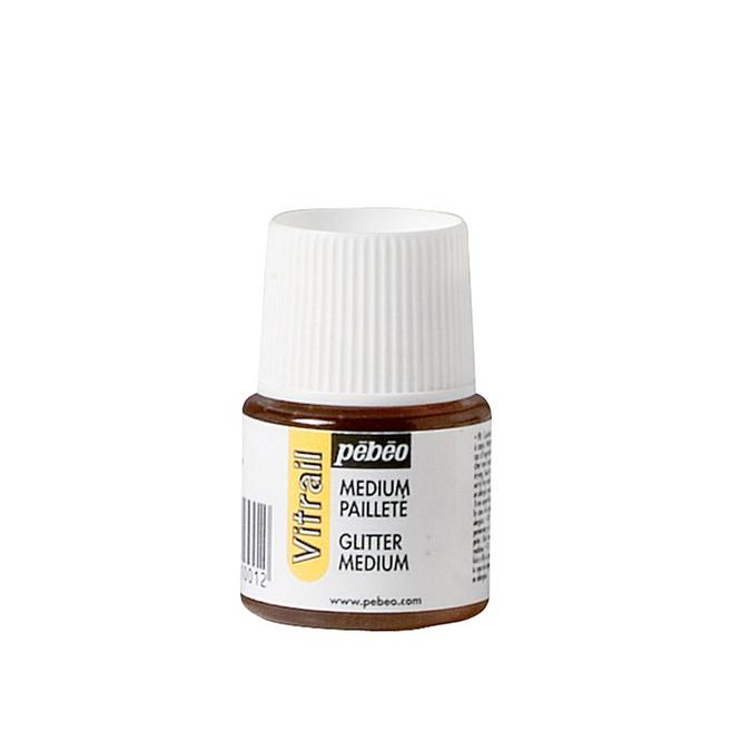 Médium pailleté 45 ml pour peinture Vitrail de Pébéo