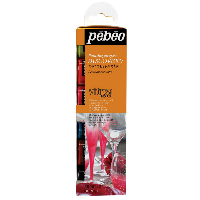 Set découverte Vitrea 160 couleurs dépolies 6 flacons de 20 ml