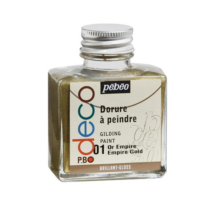 Dorure à peindre P.BO deco flacon 75 ml Or empire