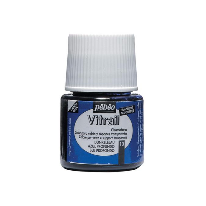 Peinture pour verre Vitrail 45 ml 10 - Bleu profond