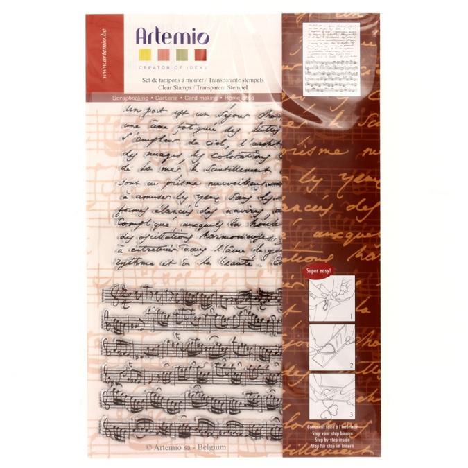 Tampon Transparent Musique 14 x 18 cm