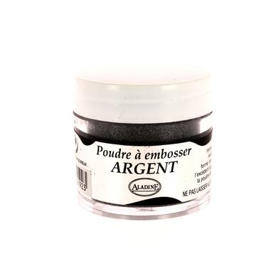 Poudre embosser 30 ml argent aladine chez rougier pl - Peinture transparente pailletee ...